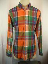 Mens Ralph Lauren Blue Label Classic Cotton LS Checked Casual Shirt sz L