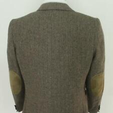 40 S Raffinati Brown Tweed Wool Leather Elbows 2Bt Mens Jacket Sport Coat Blazer