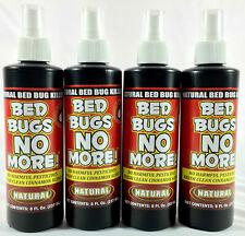 4 Bed Bugs No More Natural Insect Killer bedbugs 8oz Pump Spray