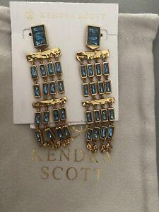 NWT kendra Scott Jack statement earrings in Blue $158.00