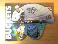 FLEER ULTRA 2014-2015 SHEA WEBER BUCKETS HOCKEY CARD BB-17 NASHVILLE PREDATORS