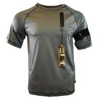 HOODIE BUDDIE Mens MEDIUM Tee T Shirt Built in Headphones Sport Athletic Apparel