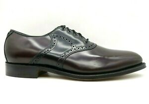 Johnston Murphy Limited Burgundy Leather Saddle Oxfords Dress Shoes Men's 11.5 D