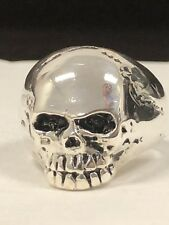 NEW 925 Sterling Silver Keith Richards Skull Ring Sz 11 Antique Heavy Ring