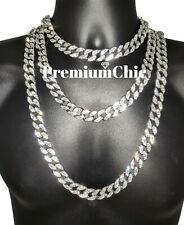 16MM ICED Miami Cuban Choker Link Chain Necklace Mens Hip Hop Jewelry ALL LENGTH