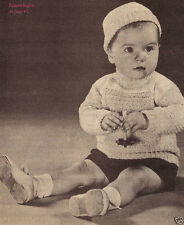 Toddler's Turtleneck Sweater, & Cap/CROCHET PATTERN INSTRUCTIONS ONLY