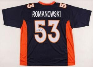 Bill Romanowski Signed Jersey (Beckett COA)Denver Broncos