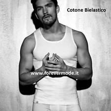 Canotta Uomo Enrico Coveri in cotone Bianco 5