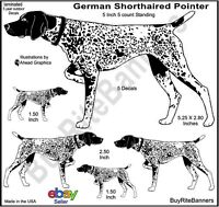 German Short-Haired Pointer Decal Stickers, 5 Inch 5 Count Bundle