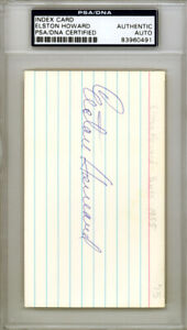 Elston Howard Autographed Signed 3x5 Index Card Yankees PSA/DNA 83960491
