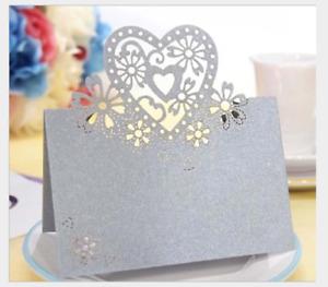 50pcs Wedding Engagement Party Table Name Place Cards  Laser Cut Design