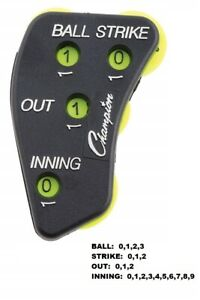 Champion Sports 4-Wheel CALL ORDER Umpire Indicator - Ball, Strike, Out, Inning