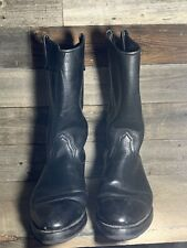 Mason Western Mens Leather Boots 9 D Riding Cowboy Work USA Made Vibram Sole