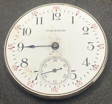 Waltham Grade 110 Pocket Watch Movement 0s 7j 1900 Openface Vintage Parts F2862