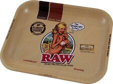 "RAW EDITION ""GIRL"" RAW METAL ROLLING TRAY LARGE 33cm x 27cm RAW ROLLING TRAY"