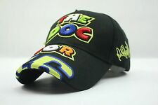 2016 Valentino Rossi The Doctor Moto GP Motorcycle Baseball Hat Peaked Cap Black