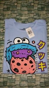 Sesame Street Cookie Monster Graphic Shirt Size Large Brand New Licensed