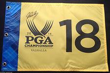JOHN DALY SIGNED VALHALLA 2014 PGA CHAMPIONSHIP GOLF FLAG 2015 RAZORBACKS COA J2