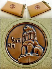 1950 Photo ALBUM Copper RELIEF PLAQUE Betar TEL HAI Irgun JABOTINSKY Lion JEWISH