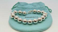 """Tiffany & Co. Sterling Silver 10mm Hardwear Bead Ball Bracelet - 7.25"""" Long"""