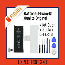 BATTERIE IPHONE 4S INTERNE NEUVE 0 CYCLE 1430 mAh + KIT OUTILS + STICKER OFFERT