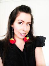 Pompom Earrings. Fluffy earrings. Unique earrings. Drop earrings. Neon Earrings