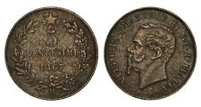 ITALIA Vittorio Emanuele II 5 Centesimi 1867 M