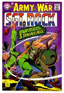 OUR ARMY AT WAR #186 in VF- grade 1967 DC WAR comic w/ SGT ROCK  NEAL ADAMS art