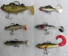 pêche carnassiers ; lot de 6 leurres souples figuratifs