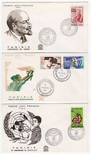 TUNISIE  6 FDC enveloppes timbres 1er jour /FDC125