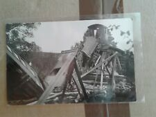 Sandy River & Rangeley Lakes SR&RL narrow gauge Railroad train real photo RPPC