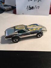 1977 Hot Wheels Super Chromes Corvette Stingray Blackwall Version Mattel HK