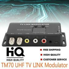 TM70 UHF TV LINK Modulator A/V PAL/NTSC AV to RF Converter with Channel Display