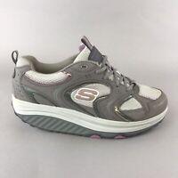 Skechers Shape Ups Grey Pink Walking Toning Shoes Fitness Trainers Size 40 UK 7