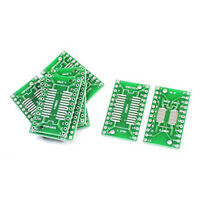 5Pcs SMD SOP24 SSOP24 TSSOP24 to DIP24 Adapter PCB IC Converter Plate
