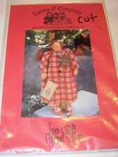 SEWING CLOTH FABRIC PROJECT PATTERN CRAFTS FOLK ART FABRIC HEART angel DOLL