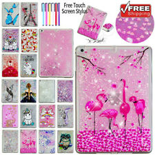 "For iPad 9.7"" 6th Air Bling Quicksands Shockproof Rubber Painted Case Cover"