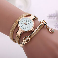 Fashion Women Ladies Wrist Watch Metal Strap Dress Watch Gold