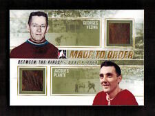 GEORGES VEZINA & JACQUES PLANTE 2010 2011 In The Game MADE TO ORDER (1 of 1)