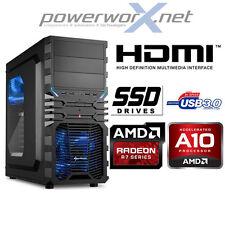 AMD Gaming KOMPLETT PC A10-7850K 4x3.70GHz 8GB 240GB SSD HDD Radeon R7 COMPUTER