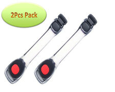 2Pcs Red Safety Light LED Armband Gear Reflective Strap Night Running Jogging