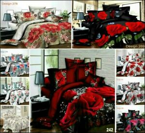 Luxury 4-PCs 3D Effect Duvet/Quilt Cover Complete Bedding Set Modern Quilt Cover