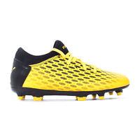 Puma Future 5.4 FG/AG Firm Ground Kids Football Boot Yellow/Black