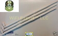 White 9dBi RP-SMA Antennas (3) for TP-Link TL-WDR4300 Dual Band Gigabit Router
