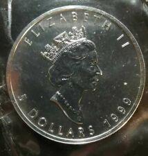 1999 Canada 1 oz Silver Maple Leaf BU - Original Sealed