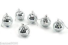 Set De 6 Disco Bola de espejo Adornos de árbol de Navidad Decoración Hogar Fiesta Regalo