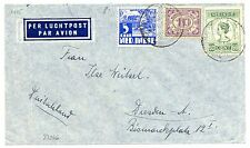 NED INDIE  1935-1-22   FLIGHT  COVER  TO  GERMANY    FINE!!