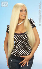 Mesdames longue perruque blonde mannequin glamour towie essex girl barbie robe de fantaisie