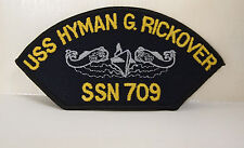 2 US NAVY USS HYMAN G. RICKOVER SSN 709 PATCHES PATCH SHIP