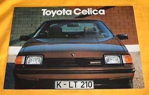 Toyota Celica 1982 Prospekt Brochure Catalog Depliant Prospetto Prospecto